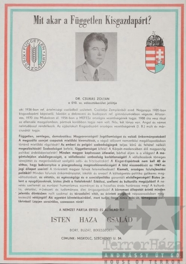 THM-PLA-2017.8.61T - FKgP election poster, 1990